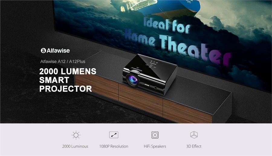 Alfawise A12 Plus Review: The Strangest projector Use You Ever Heard