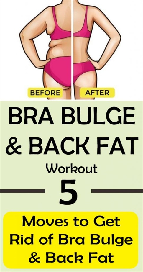 BRA BULGE & BACK FAT Workout: 5 Moves to Get Rid of Bra Fat