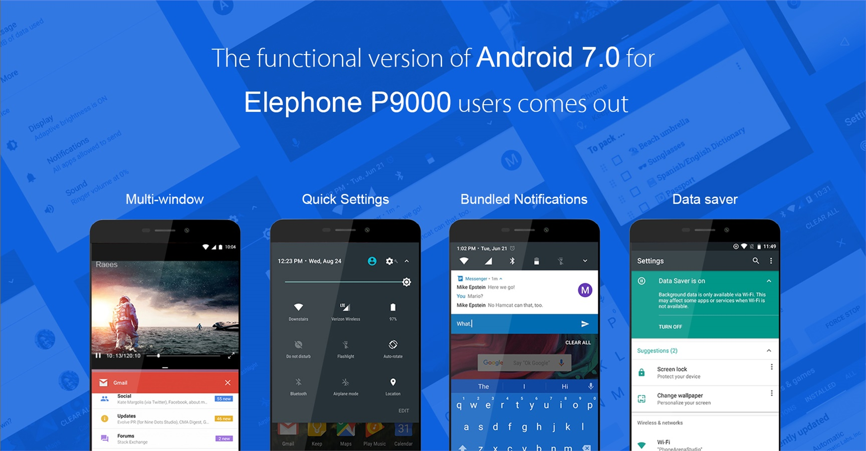 Elephone P9000 Receive Android 7.0 Nougat Download and Install Now