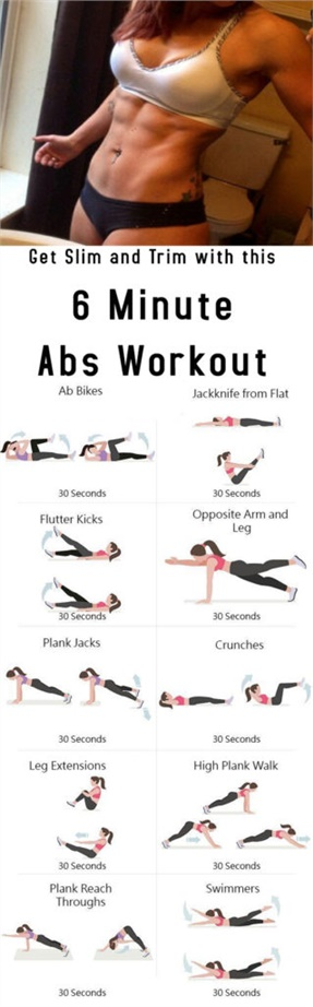 Get Slim and Trim with this 6 Minute Abs Workout