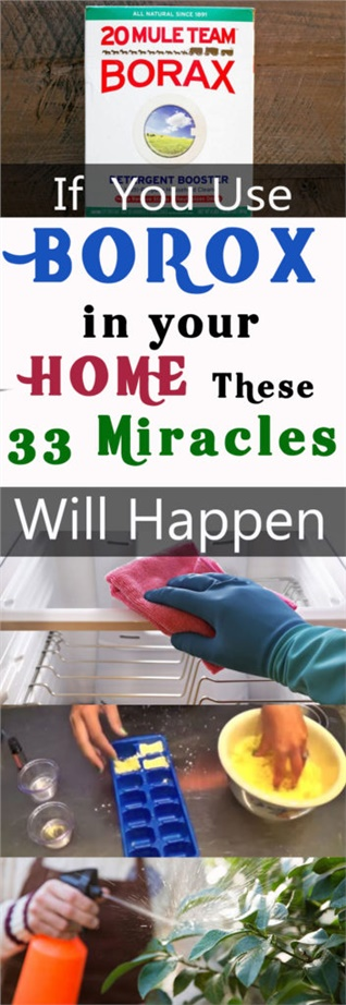 If You Use Borax In Your Home These 33 Miracles Will Happen   Borax Uses