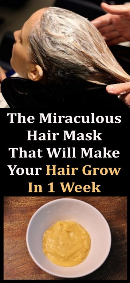 The Miraculous Hair Mask That Will Make Your Hair Grow In 1 Week