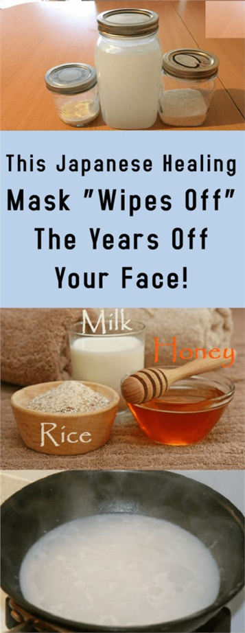 """This Japanese Healing Mask """"Wipes Off"""" The Years Off Your Face!"""