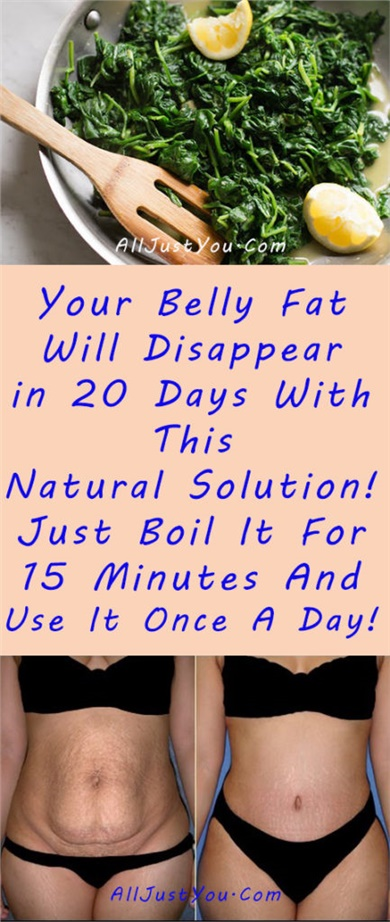 Your Belly Fat Will Disappear In 20 Days With This Natural Solution! Just Boil It For 15 Minutes And Use It Once A Day!